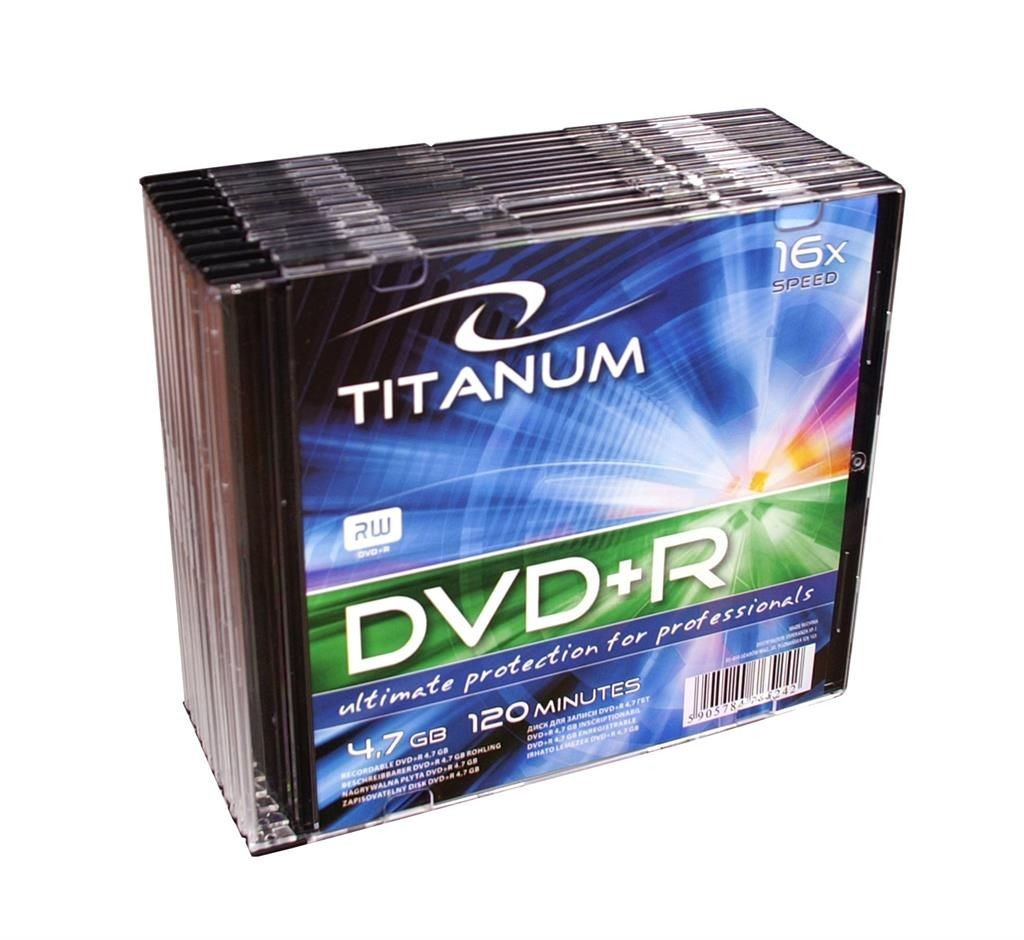 Esperanza DVD+R TITANUM [ slim jewel case 10 | 4.7GB | 16x ]