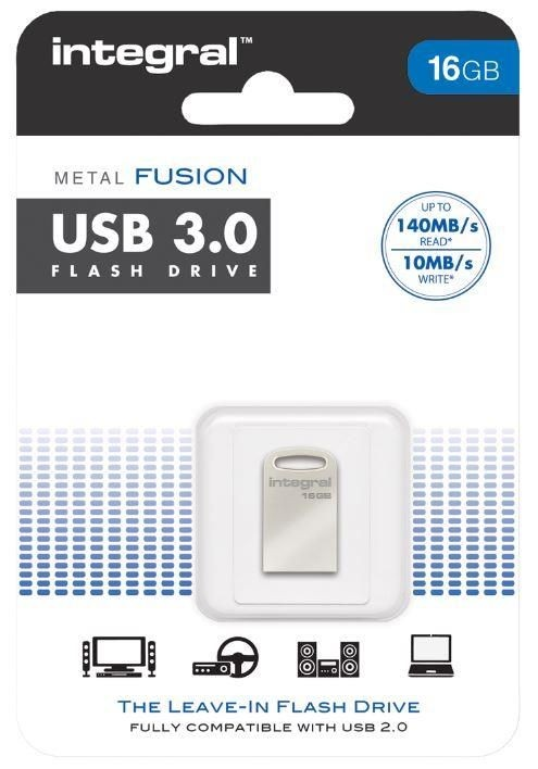 Integral pamięć USB 3.0 metal Fusion 16GB transfer do 140 MB/s
