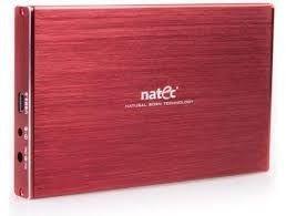 NATEC RHINO LTD obudowa USB 3.0 na dysk HDD/SSD 2.5 SATA, czerwona,slim,aluminiu