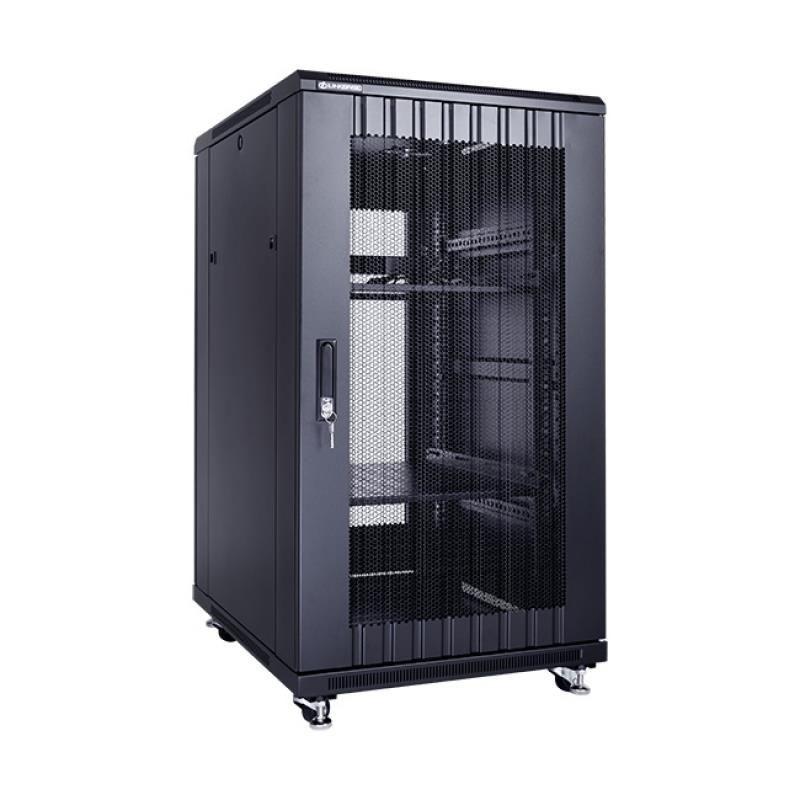Linkbasic szafa stojąca rack 19'' 22U 600x800mm czarna (drzwi perforowane)