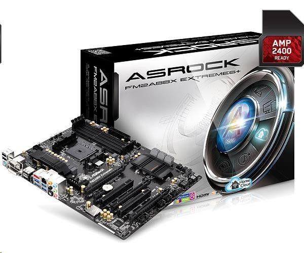 ASRock FM2A88X Extreme6+, A88X, DualDDR3-2133, SATA3, HDMI, DVI, D-Sub, DP, ATX