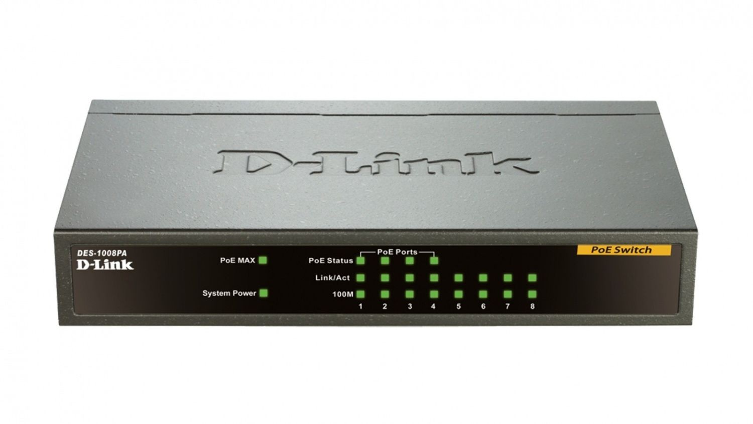 D-Link 8-port 10/100 Desktop Switch, 4 PoE Ports