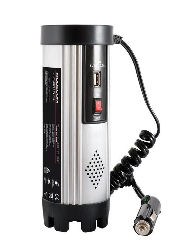 ModeCom Przetwornica MC R015 AC/DC 24V-230V 150W USB SILVER