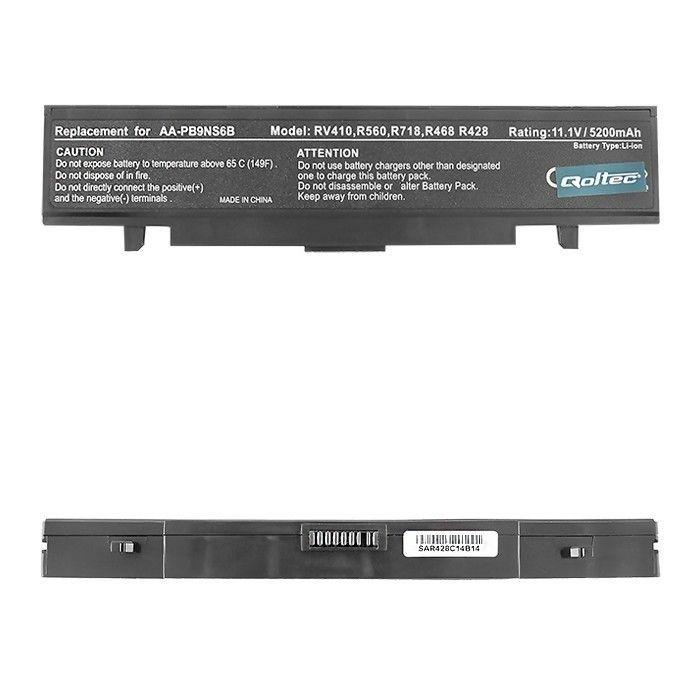 Qoltec Bateria do Samsung R580 R520 R720 R730, 5200mAh, 10.8-11.1V