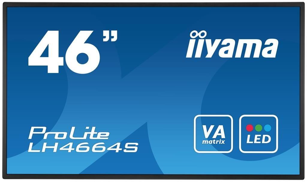 iiyama Monitor IIyama LH4664S-B1 46inch, AMVA3, Full HD, HDMI, DVI, DP, głośniki
