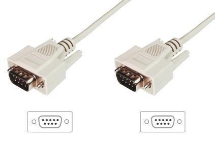 Assmann Kabel połączeniowy RS232 1:1 Typ DSUB9/DSUB9 M/M beżowy 3m