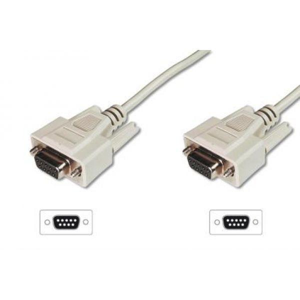 Assmann Kabel połączeniowy RS232 null-modem Typ DSUB9/DSUB9 Ż/Ż beżowy 3m