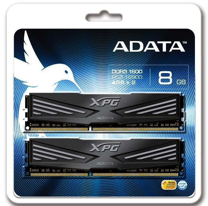 A-Data XPG V1.0 2x4GB 1600MHz DDR3 CL9, Radiator, Retail 1.5V