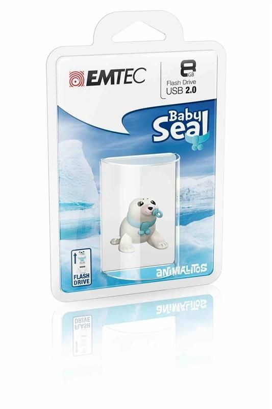 Emtec Flashdrive M334 8GB USB 2.0 Baby Seal