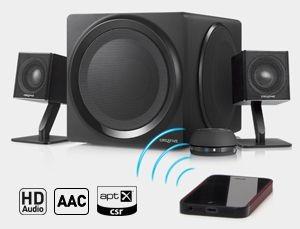 Creative Głośniki T4 Bezprzewodowe, Bluetooth 3.0, NFC, 2.1