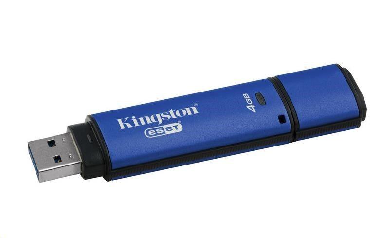 Kingston Flashdrive DataTraveler Vault Privacy 3.0 Anti-Virus 4GB USB 3.0 Niebieski