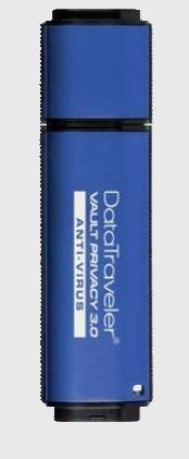 Kingston pamięć USB DataTraveler 16GB DTVP30AV, 256bit AES Encrypted + ESET AV