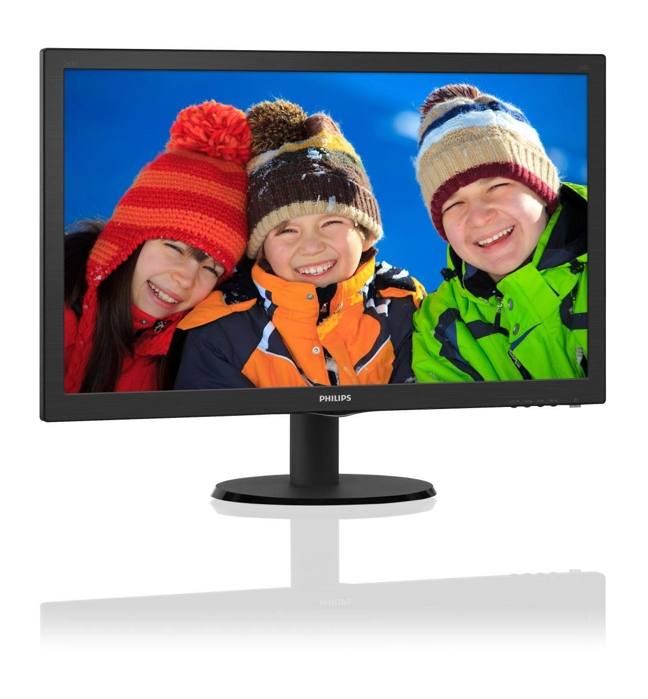 Philips 23.6'' 243V5LSB LED DVI Czarny