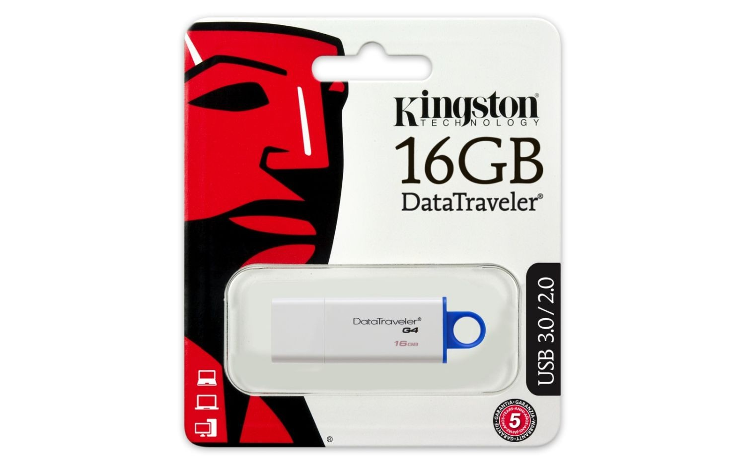 Kingston pamięć USB 16GB DataTraveler I G4 - Blue
