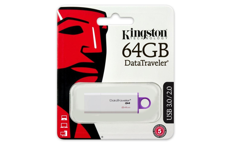Kingston PENDRIVE 64GB USB 3.0 DATA TRAV. G4 WHITE/PURPLE