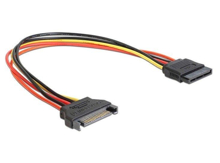DeLOCK przedłużacz kabla zasilającego SATA (M/F) 15-pin, 0.3m