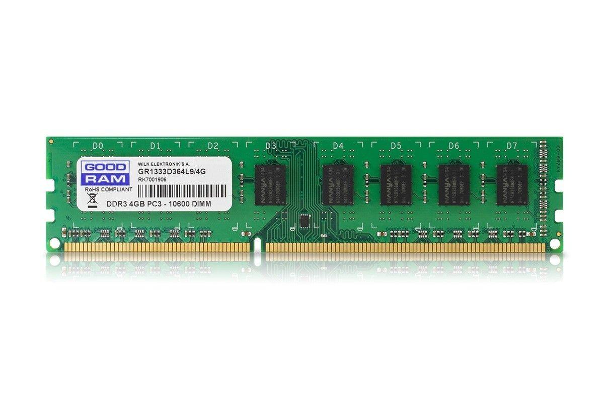 GoodRam Pamięć DDR3 4GB 1333MHz C9 1.5V (512x8)