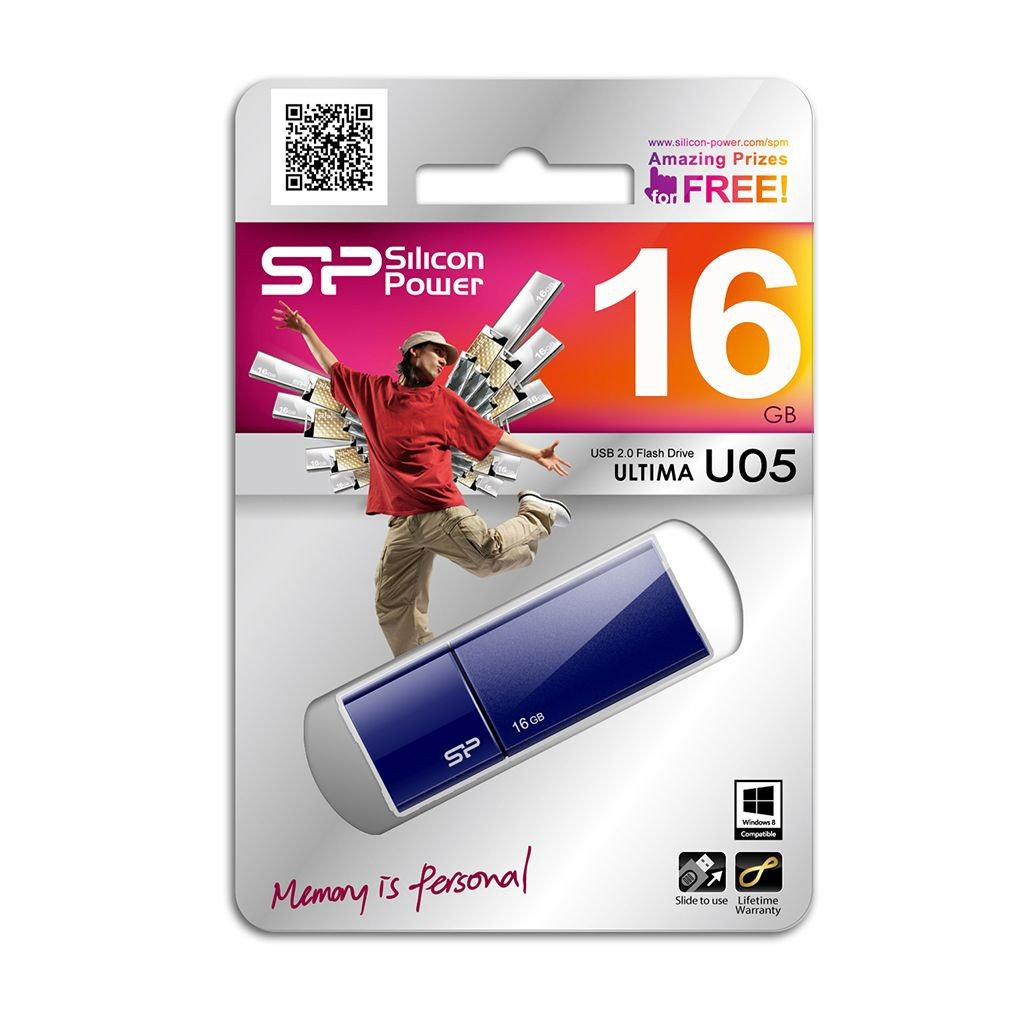 Silicon-Power Pamięć USB Ultima U05 16GB USB 2.0 Niebieska