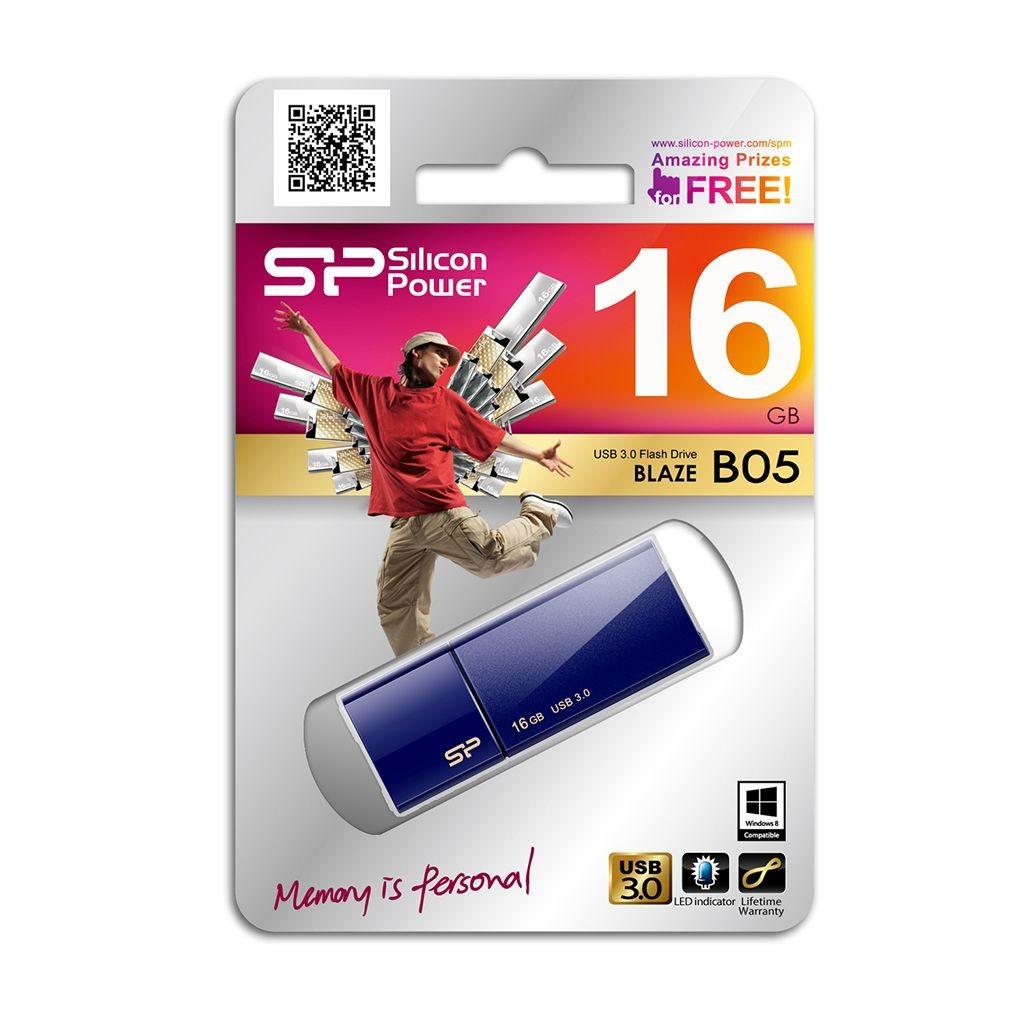 Silicon-Power BLAZE B05 16GB USB 3.0 Navy Blue