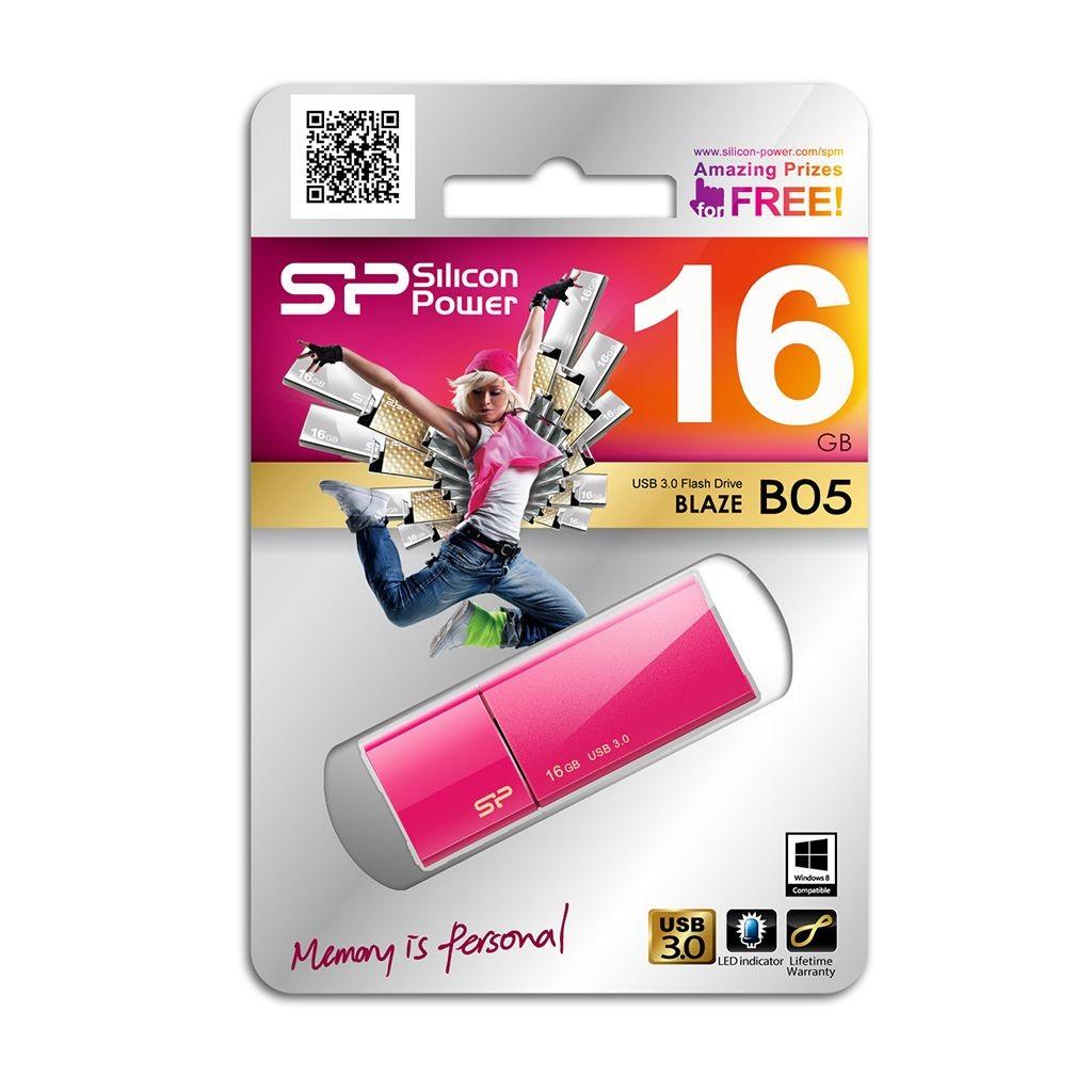 Silicon-Power BLAZE B05 16GB USB 3.0 Sweet Pink