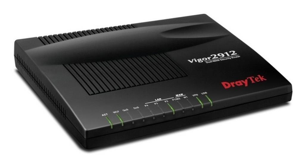 DrayTek Vigor 2912, 2xWAN(RJ45), 3xLAN, 16xVPN, Bandwidth Manag., USB