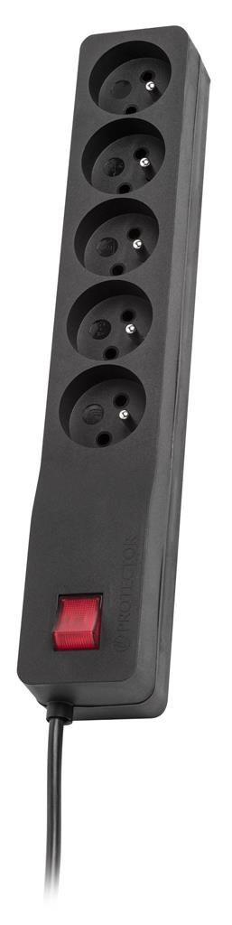 Lestar listwa przeciwprzepięciowa ZX 510, 1L, 2.5m, czarna