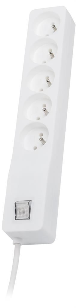 Lestar listwa przeciwprzepięciowa ZX 510, 1L, 2.5m, biała