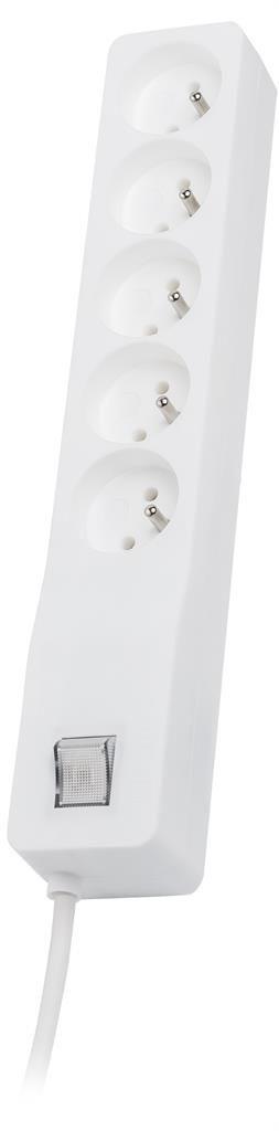 Lestar listwa przeciwprzepięciowa ZX 510, 1L, 5.0m, biała