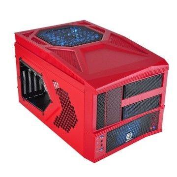 Thermaltake Armor A30i Cube USB 3.0 Window (2x60mm 90mm 200mm, LED), czerwona