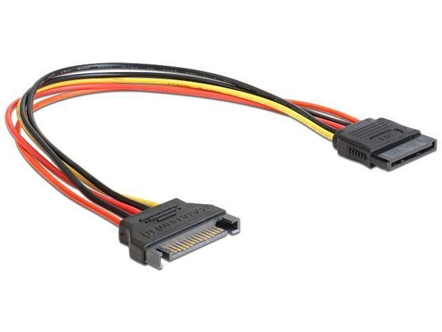 DeLOCK przedłużacz kabla zasilającego SATA 15 Pin męski>SATA 15 Pin żeński 50 cm