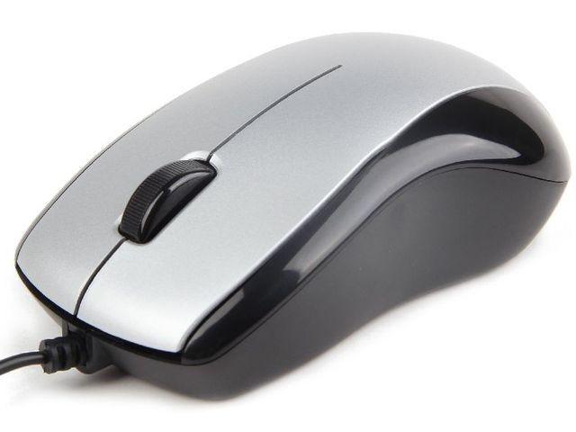 Gembird mysz optyczna USB, 1000 DPI, czarno-srebrna