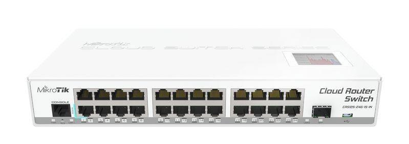 MikroTik CRS125-24G-1S-IN L5 24xGig LAN, 1xSFP, 1x microUSB, LCD, desktop case