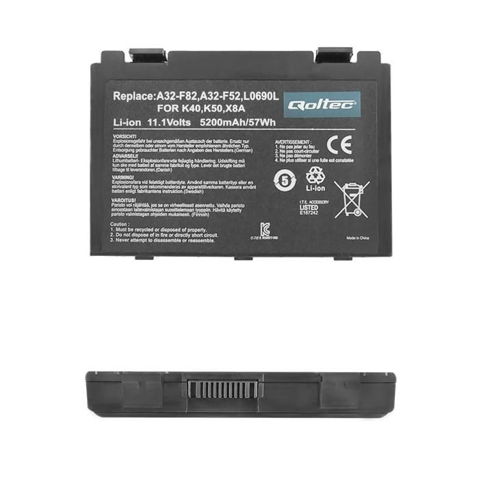 Qoltec Bateria do laptopa Long Life - ASUS F82, F83S 11.1V | 5200 mAh
