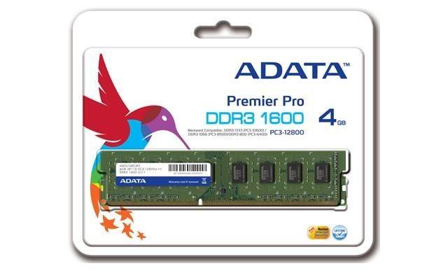 A-Data Pamięć DDR3 1600 CL9-Blk heat sink 4G 1