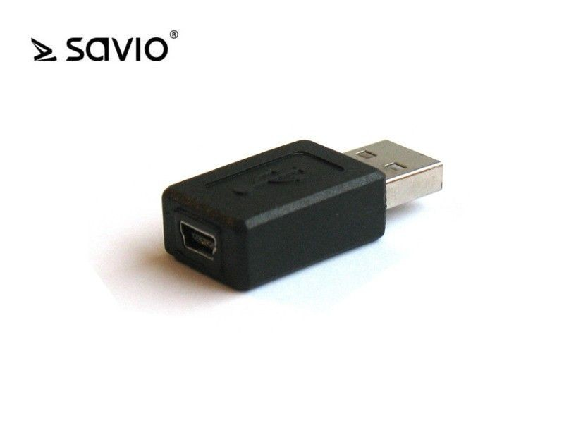Elmak SAVIO CL-13 Adapter USB AM - mini USB BF