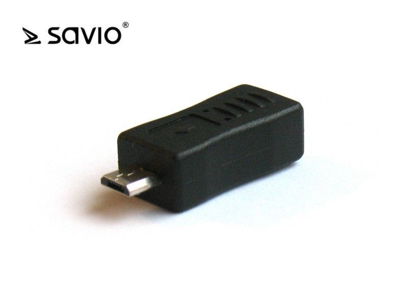 Elmak SAVIO CL-16 Adapter mini USB BF- micro USB BM