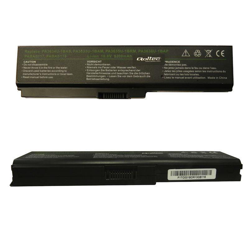 Qoltec Bateria do notebooka - Toshiba PA3634, 5200mAh, 10.8-