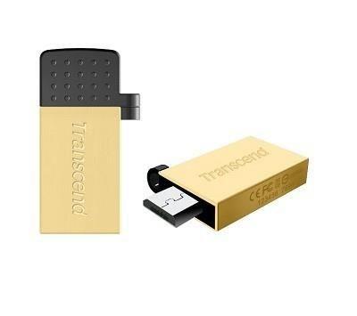 Transcend pamięć Jetflash 380G OTG micro USB/USB 32GB Gold