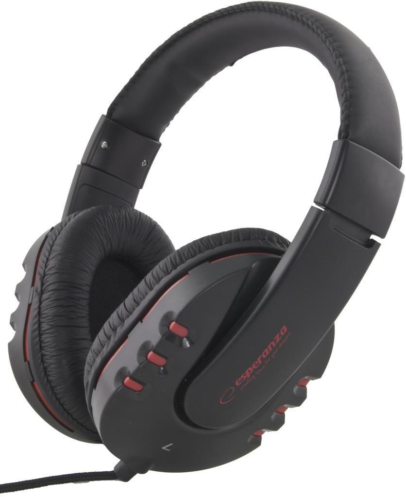 Esperanza Słuchawki Audio Stereo z Regulacją Głośności EH142K | 3m