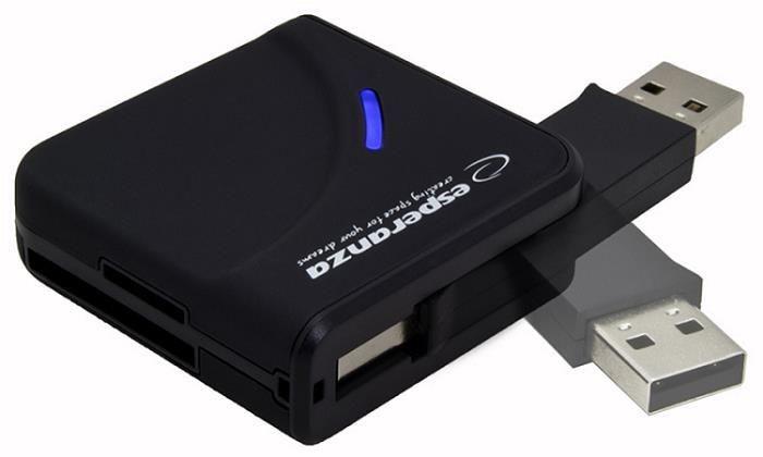 Esperanza Uniwersalny czytnik Kart Pamięci USB 2.0 EA130