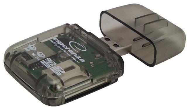 Esperanza Uniwersalny czytnik Kart Pamięci USB 2.0 EA132