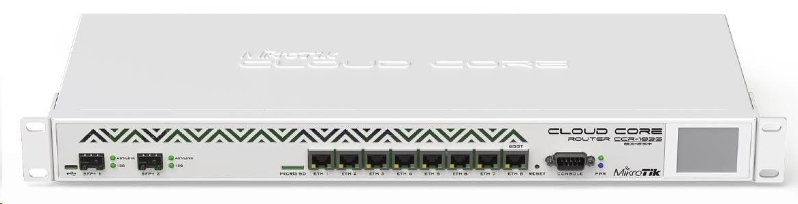 MikroTik CCR1036-8G-2S+ router (8xGLAN 2xSFP+ 4GB RAM)
