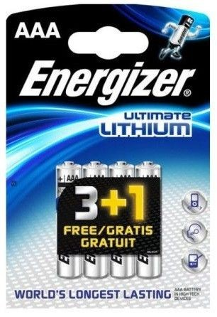 Energizer Bateria LITHIUM AAA L91 3+1szt.