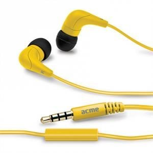 Acme Słuchawki douszne z mikrofonem ACME HE15Y Groovy żółte