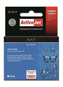 ActiveJet Tusz ActiveJet AE-801R | Czarny | 12 ml | Epson T0801