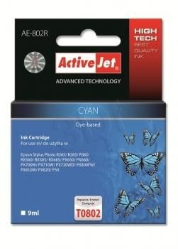 ActiveJet Tusz ActiveJet AE-802R | Cyan | 9 ml | Epson T0802
