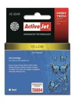 ActiveJet Tusz ActiveJet AE-804R | Yellow | 9 ml | Epson T0804