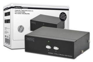 Digitus Przełącznik VGA 2 PC, 1 Monitor