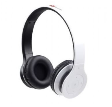 Gembird słuchawki Bluetooth stereo, mikrofon, białe