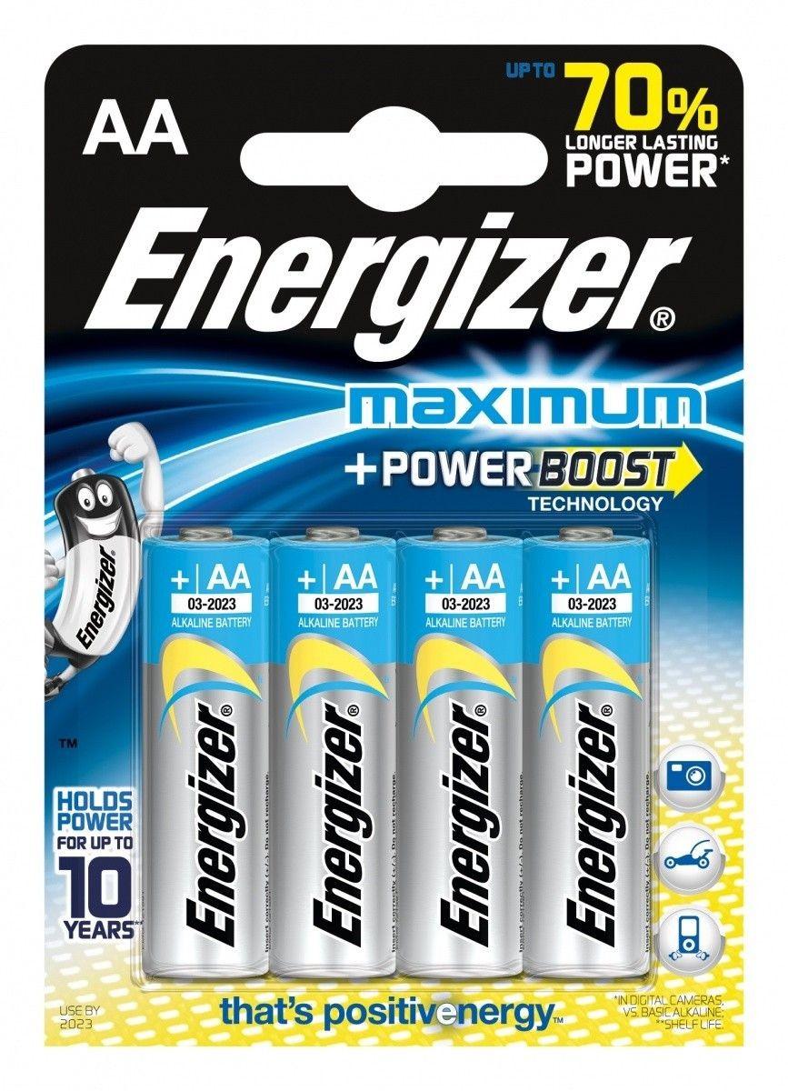 Energizer Bateria Maximum Alkaliczna AA LR6 E91 4 szt. blister